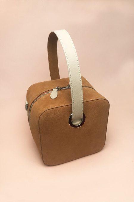 LateLee Suede Cube Bag - Brown