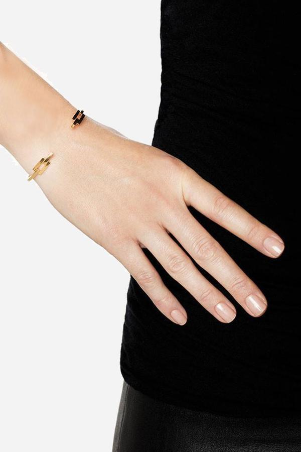 Maria Black Estelle Cuff Bracelet - gold