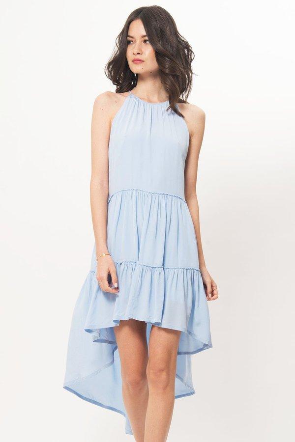 Elliat Halter High Low Dress - Powder Blue