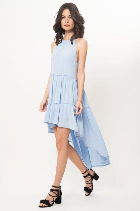 Elliat Halter High Low Dress - Powder Blue