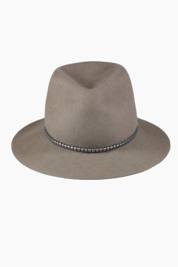 Lola Hard Cobblestone Wool Hat - Brown
