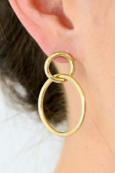 SOKO Infinity Stud Earrings - Gold