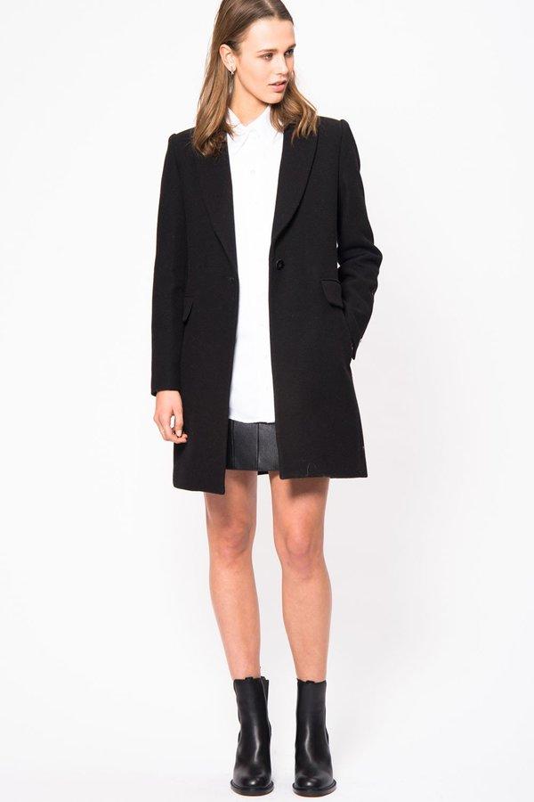 LOOKAST Mercer Wool Coat - Black