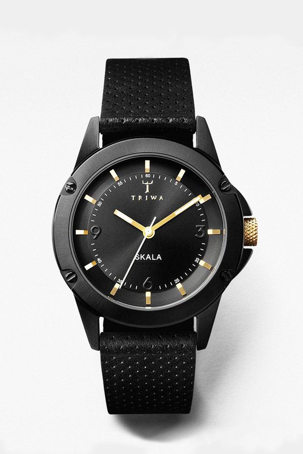 Triwa Midnight Skala Watch - Black/Gold