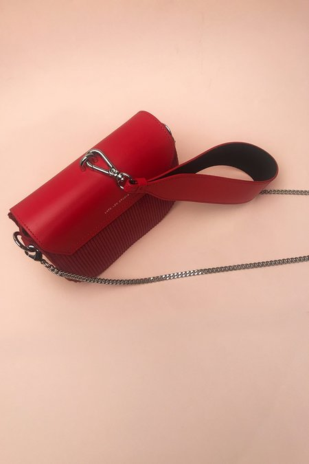 LateLee Mini Corduroy Saddle Bag - Red