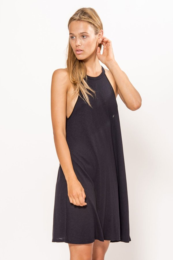 Lacausa Petal Tank Dress - Black