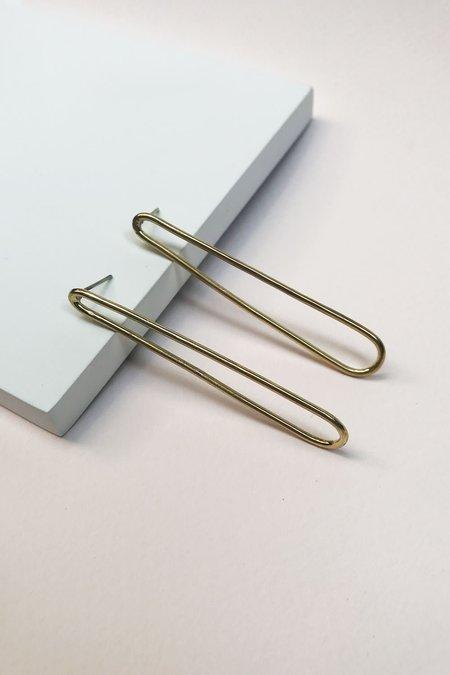 SOKO Pia Outline Stud Earrings - Gold
