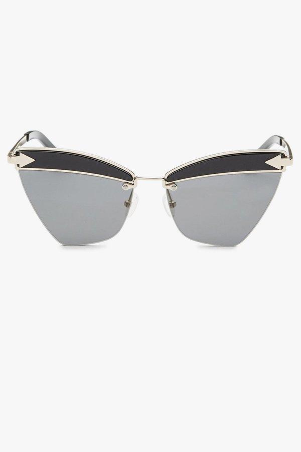 Karen Walker Sadie Sunglasses - Black/Silver