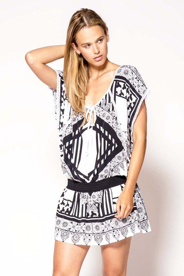 Primary New York Silk Capri Dress - Moro Print