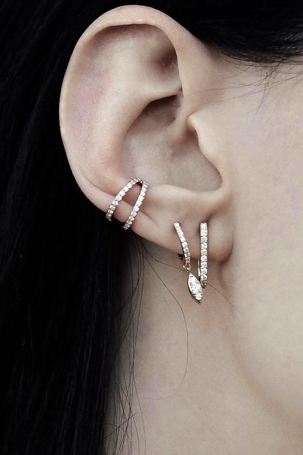 Carbon & Hyde Split Cuff Single Earring
