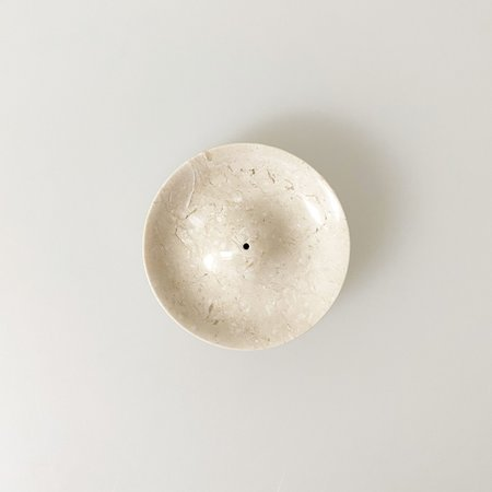 Binu Binu Marble Incense Holder - Cream