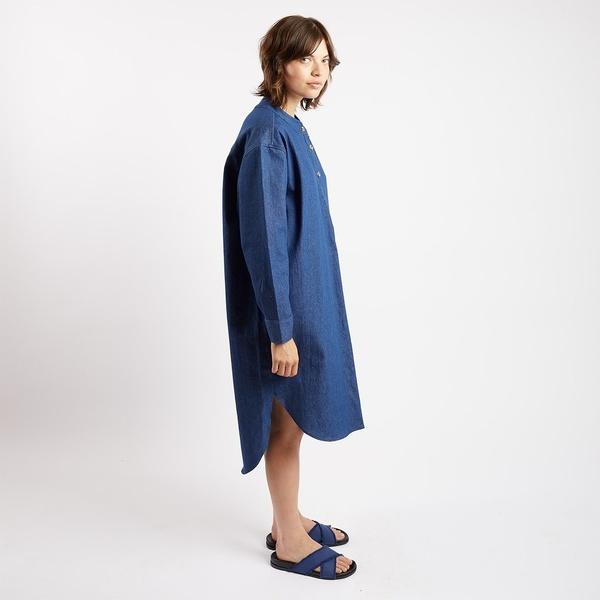 Kate Sheridan Ltd Relaxed Denim Slumber Shirt Dress
