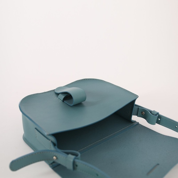 Kate Sheridan Ltd Celeste Loop Leather Shoulder Bag - Sky Blue