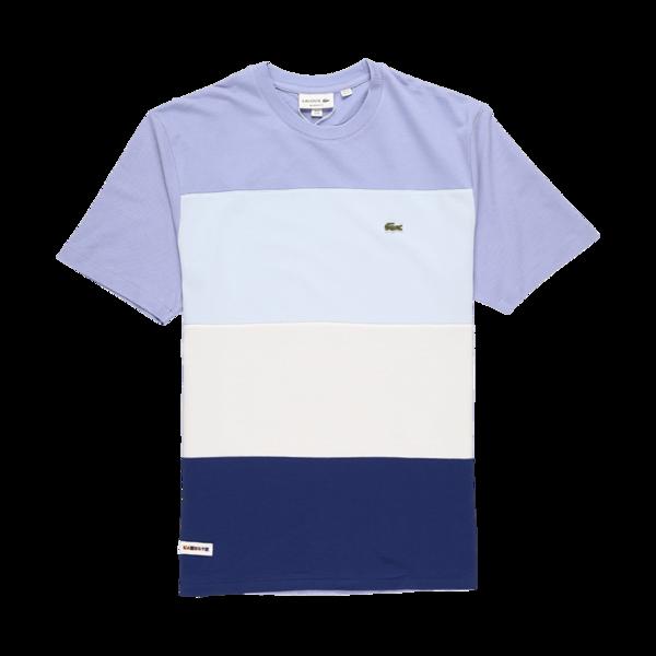 Lacoste Color Block Ice Cotton T-Shirt - Navy Blue/Multicolor