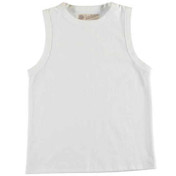 Girls of Dust Johnny Open End Top - White