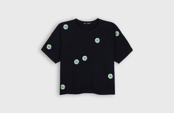 LB2 STUDIO Paquerette Crop T-shirt