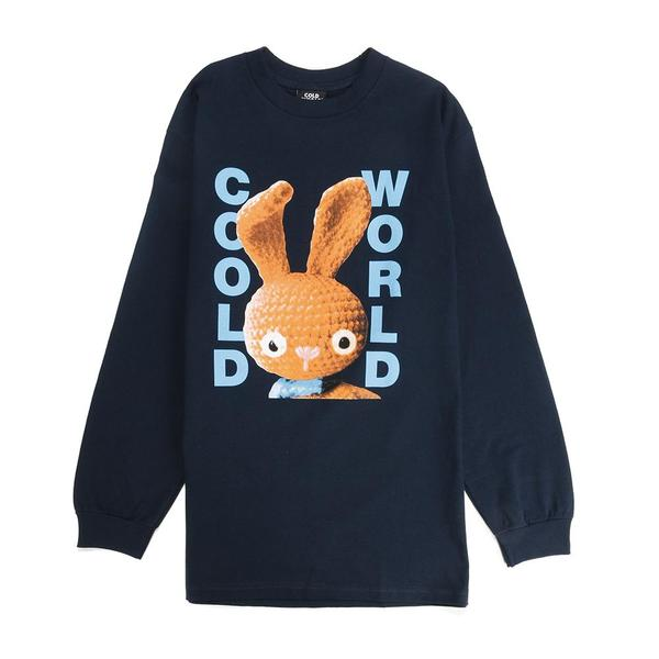Cold World Frozen Goods Dirty Bunny Long Sleeve T-shirt - Navy