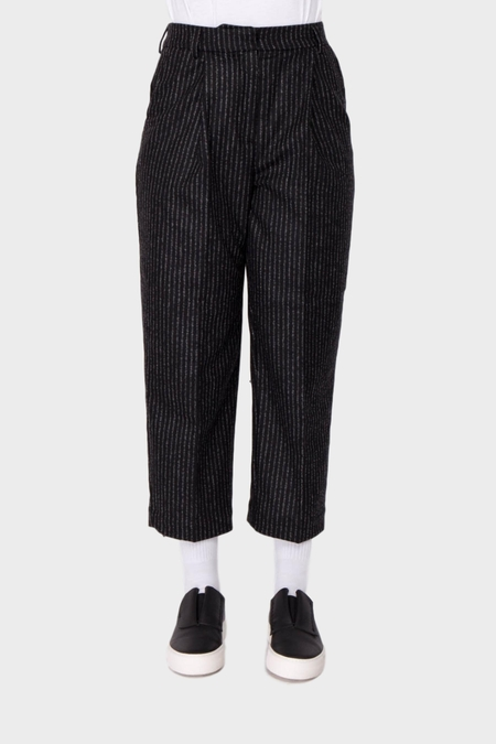 You Must Create Market Flannel Trousers - Black/Ecru