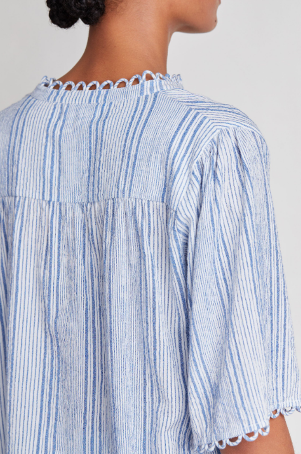 Apiece Apart Alta Top - Adriatic Mini Stripe