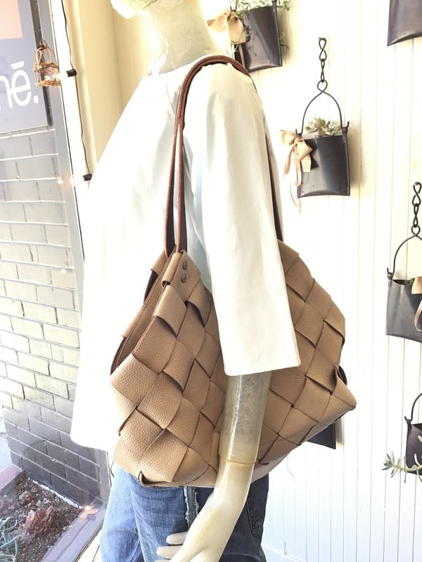 Mmē Handwoven Leather Bag