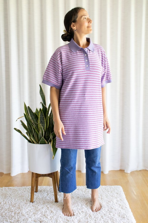 MM6 Maison Margiela TShirt Dress - Stripy Lilac