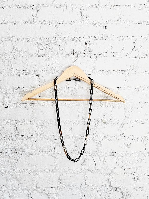 CATH•S Small Link Necklace - Black