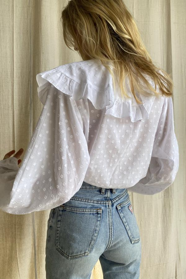 Beach Knickers Lucie Blouse - Spot White