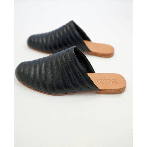 Beklina Ribbed Flats - Black