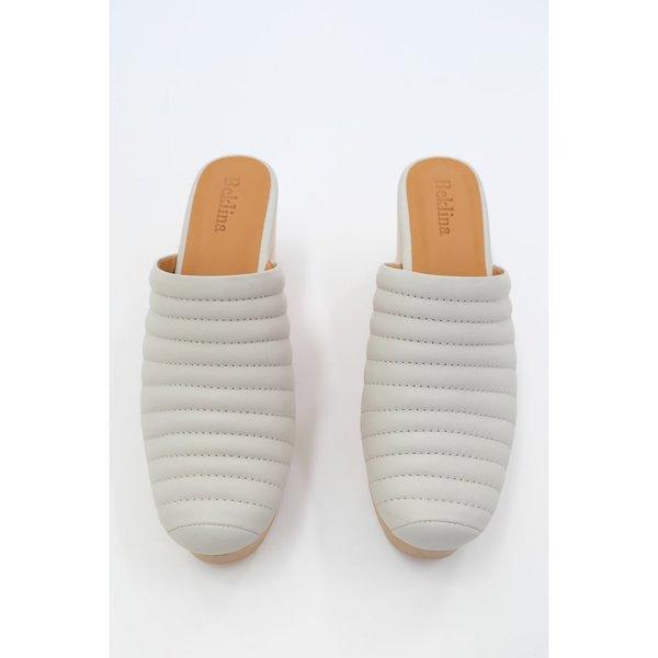 Beklina Ribbed Clog - Soft Grey