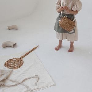 Kids Leau Puff Sleeve Dress - Natural