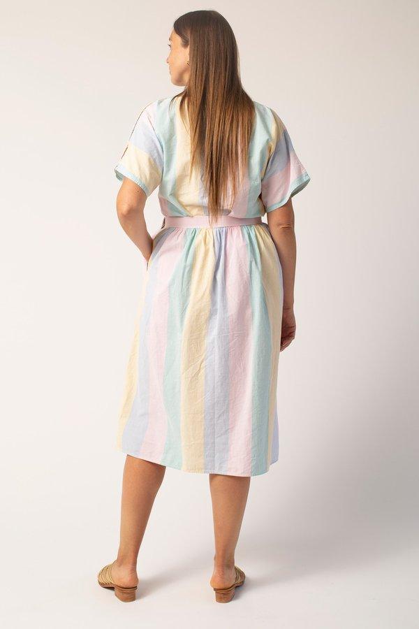 Vintage Skirt Set - Pastel Stripe