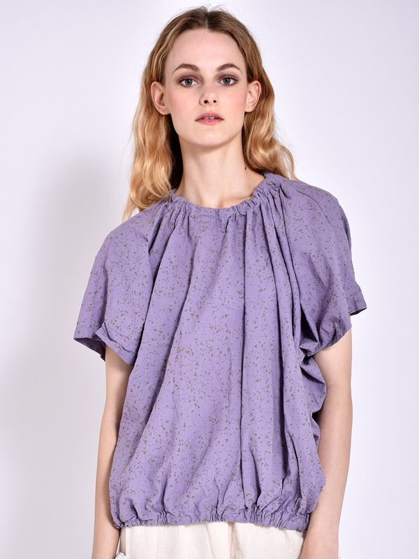 Uzi NYC Nina Blouse - Speckled Lavender