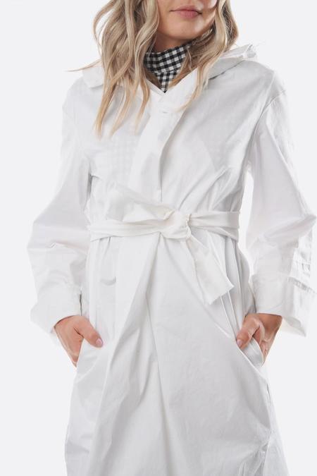 Pipsqueak Chapeau stretch cotton Bell Coat - White