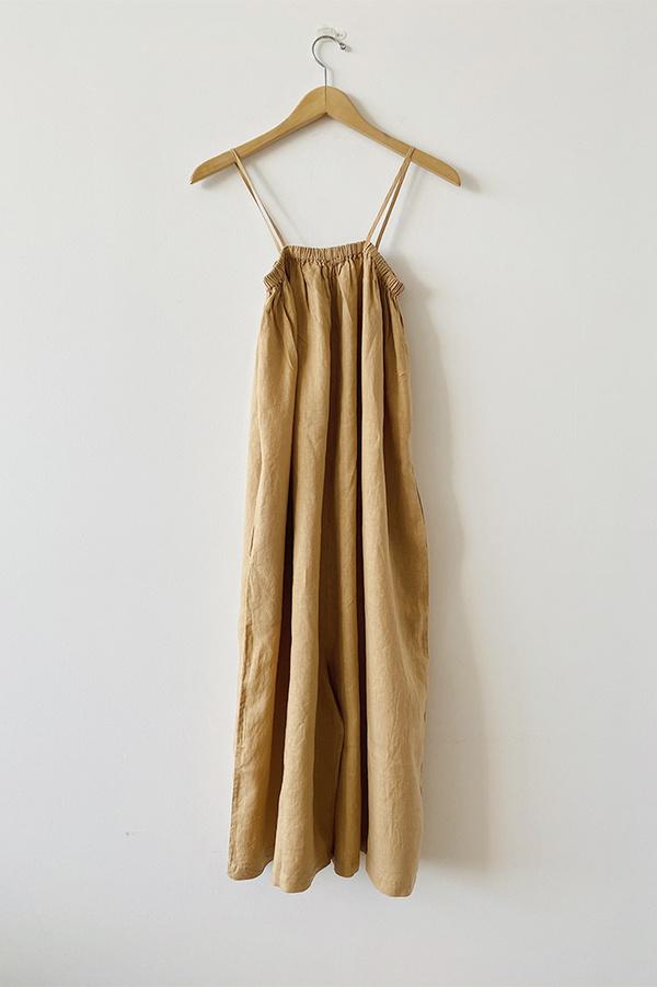 Filosofia Leah Jumpsuit - Ochre Linen