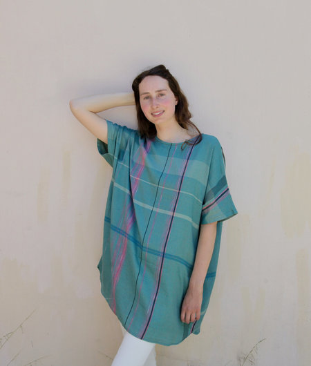 Tamaki Niime Suton-t Half One Of A Kind Woven Cotton Reversible Tunic