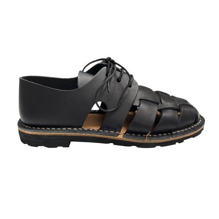 Unisex Steve Mono LACE UP SANDAL - BLACK