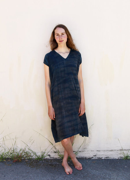Tamaki Niime  One of a kind woven cotton reversible dress