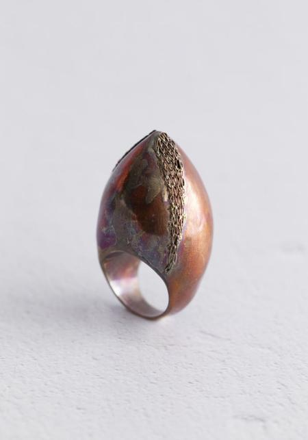Milena Zu Bold Point Copper Ring