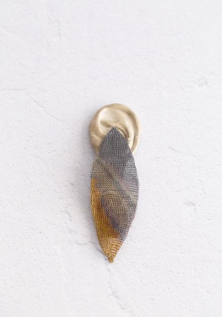 Milena Zu Ombre Woven Silver Plated Brass Earrings
