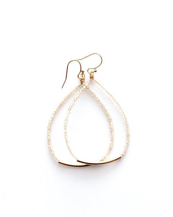 Jennifer Tuton Beaded Bar Earring