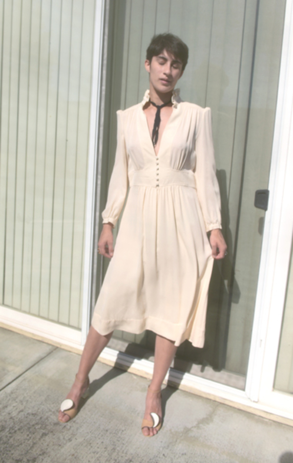 Vintage Derek Lam Silk Dress - Cream