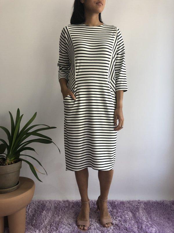 Valérie Dumaine Robe Indiana - Rayé Ivoire/Marine