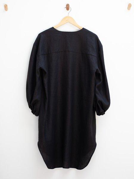Nancy Stella Soto Button Up Shirt Dress - Black