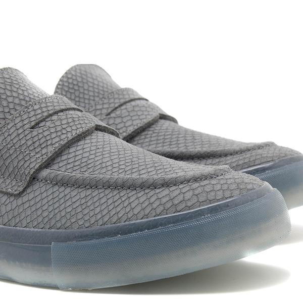 RONE Thirty Six Hand Sewn Python Loafers - Grey