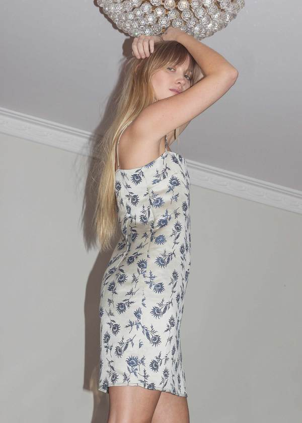 P&V Wilting Floral Simple Dress