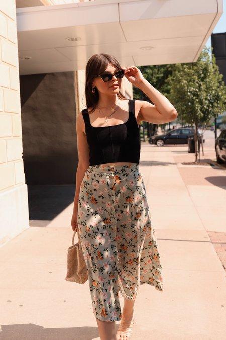 Vintage Skirt - Sage Floral