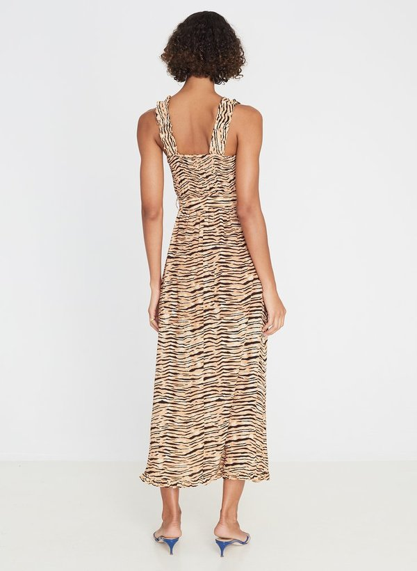 Faithfull The Brand Saint Tropez Midi Dress - Wyldie Animal Print