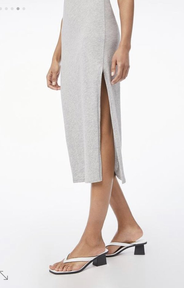FRAME Denim  Le Muscle Maxi Dress - Heather Grey
