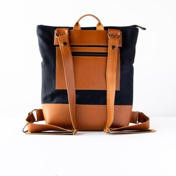 Kazak Atwood Laptop Backpack Leather/Fabric