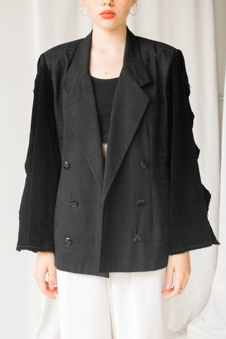 Boy Heart Brand Flared Sleeve Blazer - Black